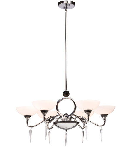 ARTCRAFT Milano 6 Light Chandelier in Chrome AC1286 photo