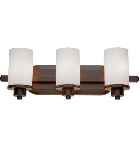 Artcraft AC1303WH Parkdale 3 Light 21 inch Oil Rubbed Bronze Bathroom Light Wall Light photo