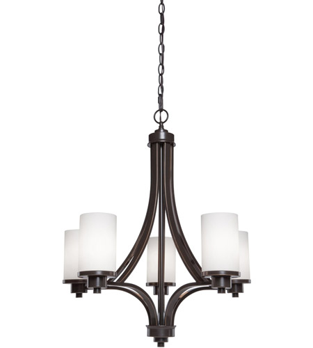 Artcraft Lighting Parkdale 5 Light Chandelier in Oil Rubbed Bronze AC1305WH photo