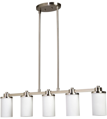 Artcraft AC1306PN Parkdale 5 Light 38 inch Polished Nickel Island Light Ceiling Light photo
