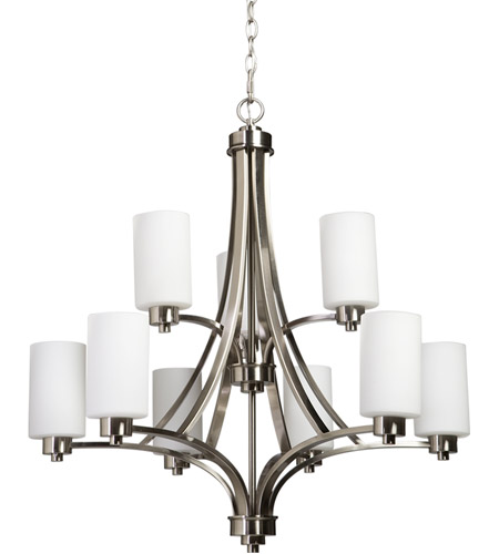 Artcraft AC1309PN Parkdale 9 Light 28 inch Polished Nickel Chandelier Ceiling Light photo