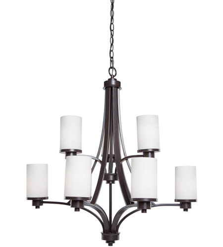 Artcraft AC1309WH Parkdale 9 Light 28 inch White Chandelier Ceiling Light photo