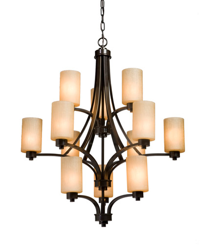 Artcraft AC1312OB Parkdale 12 Light 32 inch White Chandelier Ceiling Light photo