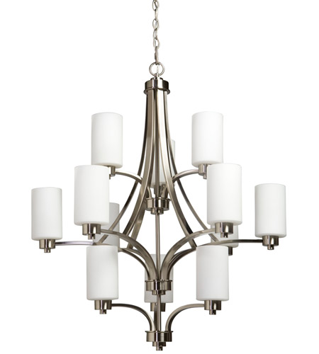 Artcraft AC1312PN Parkdale 12 Light 32 inch Polished Nickel Chandelier Ceiling Light photo