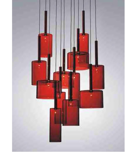 Artcraft Lighting Berlinetta 12 Light Chandelier with Red Glass AC1342RD photo