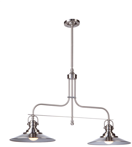Artcraft Lighting Heath 2 Light Island Light in Satin Nickel AC1472SN photo