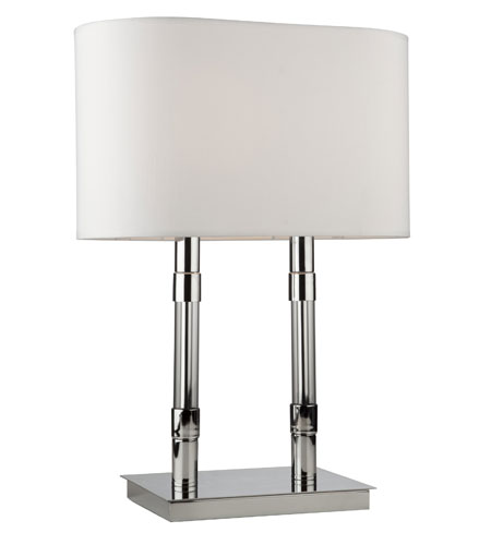 Artcraft Lighting Carlton 2 Light Table Lamp in Chrome AC1559 photo