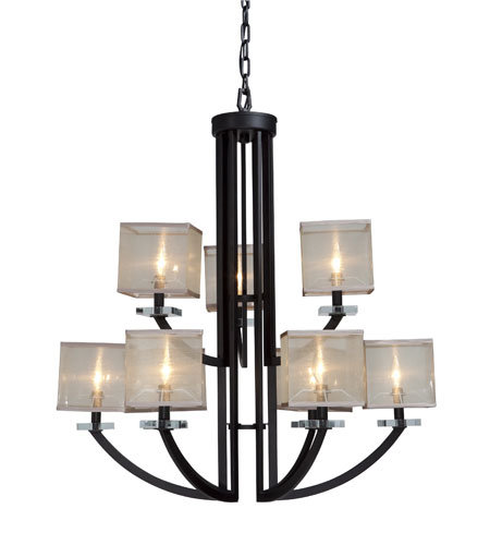 Artcraft Lighting Stowe 9 Light Chandelier in Oil Rubbed Bronze AC1589 photo