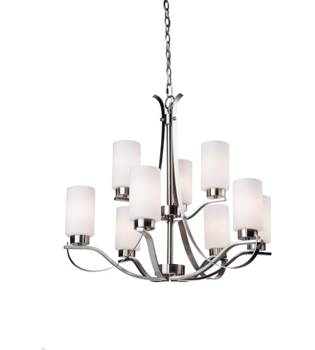 Artcraft Lighting Russell Hill 9 Light Chandelier in Polished Nickel AC1599PN photo