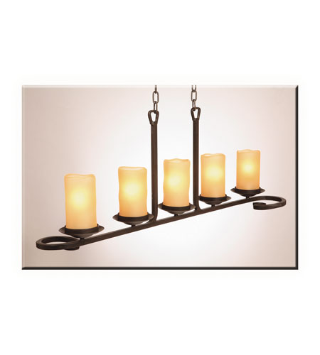 Artcraft Lighting Candlelight 5 Light Island Light in Oil Rubbed Bronze AC1705AM photo