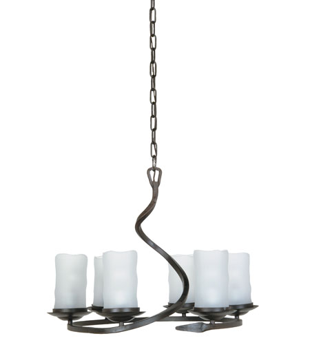Artcraft Lighting Candlelight 6 Light Chandelier in Oil Rubbed Bronze AC1706 photo