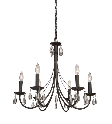 Artcraft Ac1766br Terramo 6 Light 27 Inch Dark Chocolate Chandelier Ceiling Photo