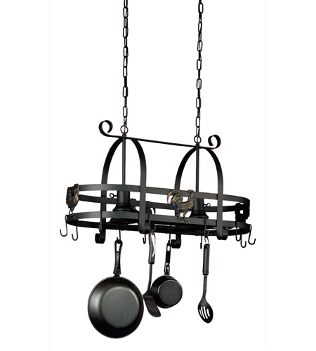 Artcraft AC1798EB Signature 2 Light 31 inch Ebony Black Pot Rack Ceiling Light in 16.5, 30.5 photo