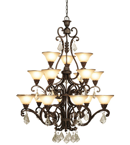 Artcraft AC1831 Florence 18 Light 44 inch Multi Tone Bronze Chandelier Ceiling Light photo