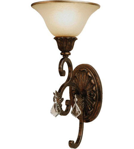 Artcraft AC1834 Florence 1 Light 8 inch Multi Tone Bronze Wall Bracket Wall Light photo