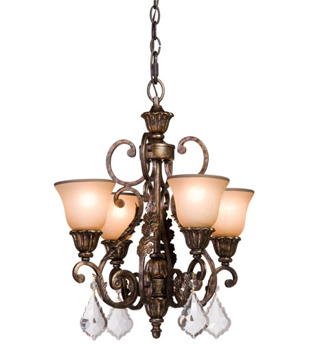 Artcraft AC1844 Florence 4 Light 20 inch Gold Mini Chandelier Ceiling Light photo
