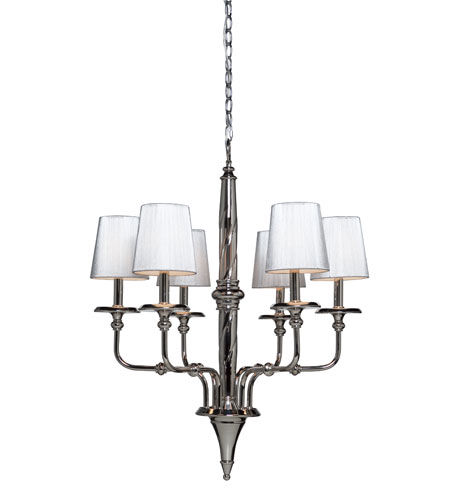 Artcraft Lighting Princeton 6 Light Chandelier in Polished Chrome AC1906 photo
