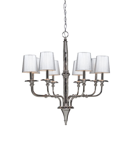 Artcraft Lighting Princeton 8 Light Chandelier in Polished Chrome AC1908 photo