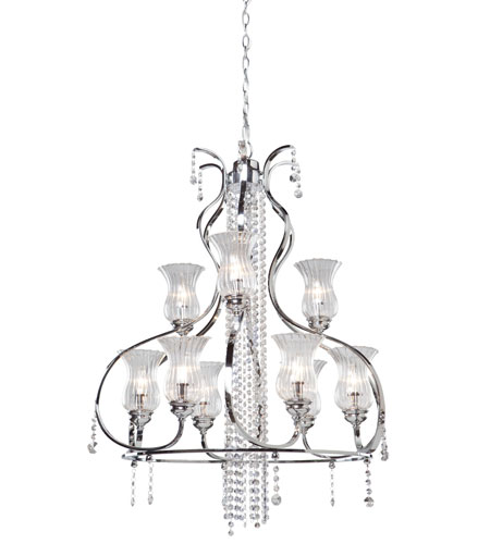 Artcraft Lighting Nob Hill 9 Light Chandelier in Chrome AC1959 photo