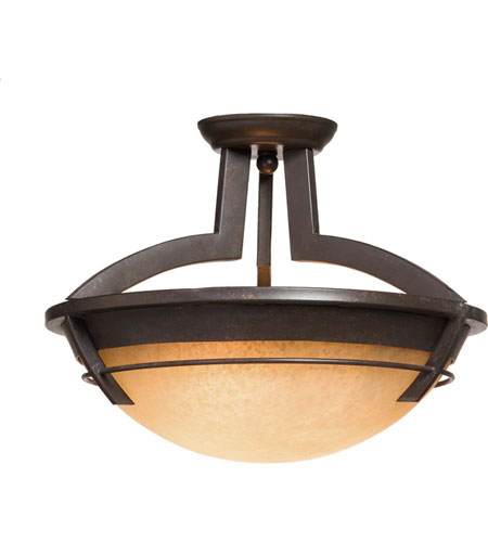 Artcraft Lighting Maestro 3 Light Flush Mount in Oil Rubbed Bronze AC2190 photo