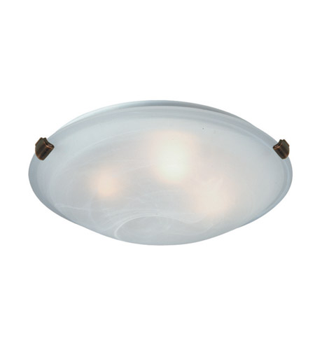 Artcraft AC2351SPBU Clip 2 Light 12 inch Brunito Flush Mount Ceiling Light photo