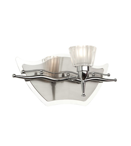 Artcraft Lighting Liberty 1 Light Bathroom Vanity in Chrome and Brushed Nickel AC261 photo