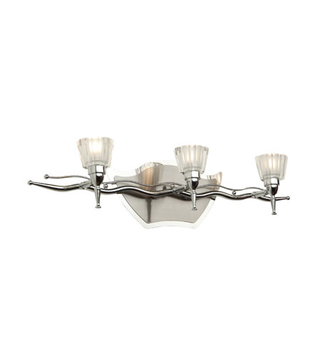 Artcraft Lighting Liberty 3 Light Bathroom Vanity in Chrome and Brushed Nickel AC263 photo