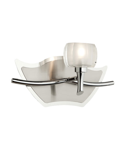 Artcraft Lighting Monroe 1 Light Bathroom Vanity in Chrome and Brushed Nickel AC281 photo