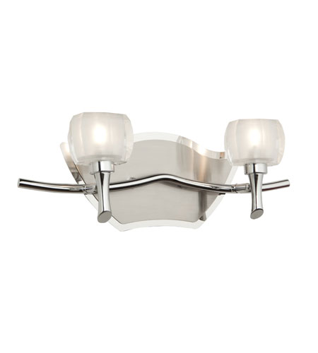 Artcraft Lighting Monroe 2 Light Bathroom Vanity in Chrome and Brushed Nickel AC282 photo