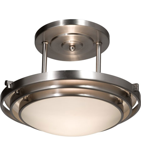 Artcraft Lighting Springfield 2 Light Semi Flush in Brushed Nickel AC2824BN photo