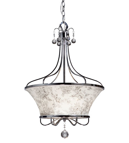 Artcraft Lighting Saint Tropez 6 Light Chandelier in Chrome AC2906 photo