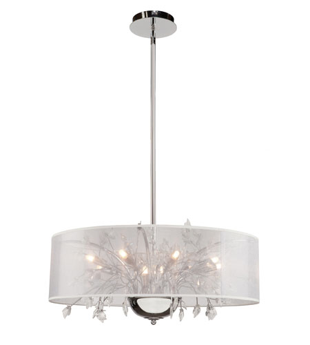 Artcraft Lighting Riviera 10 Light Chandelier in Chrome AC321 photo