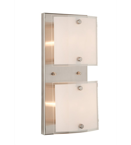 ARTCRAFT Brentwood 2 Light Bathroom Vanity in Brushed Nickel AC3332 photo