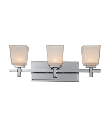 Artcraft Lighting Freeport 3 Light Bathroom Vanity In Chrome Ac3373