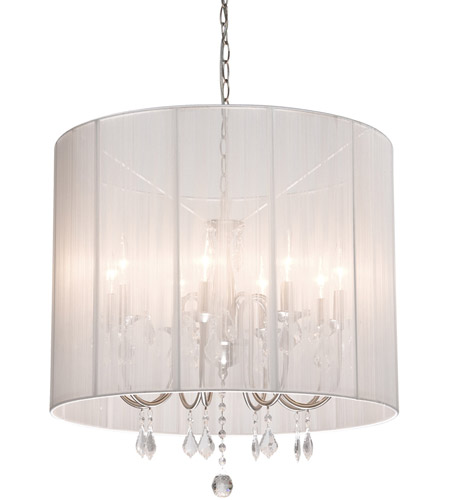 Artcraft Lighting Claremont 8 Light Chandelier in Polished Nickel AC382WH photo