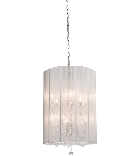 Artcraft AC383WH Claremont 10 Light 20 inch White Chandelier Ceiling Light photo
