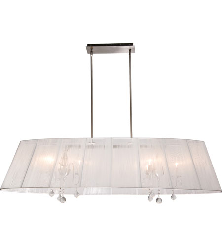 Artcraft Lighting Claremont 8 Light Island Light in Polished Nickel AC384WH photo