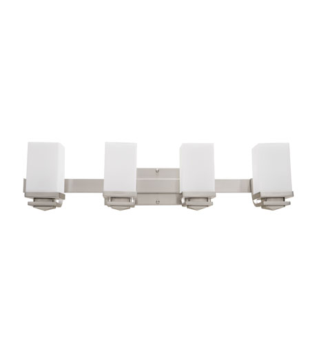 Artcraft Lighting Metropolitan 4 Light Bathroom Vanity in Brushed Nickel AC3944BN photo