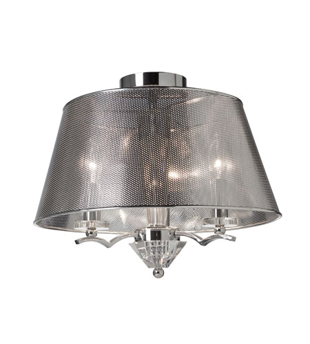 Artcraft Lighting Brera 3 Light Semi Flush in Chrome AC4007CH photo