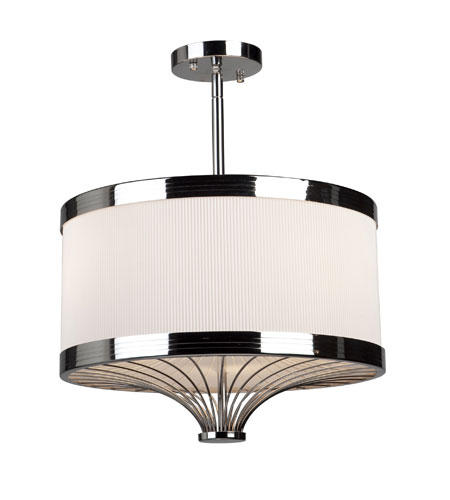 Artcraft Lighting Martinique 3 Light Semi Flush in Chrome AC4075 photo