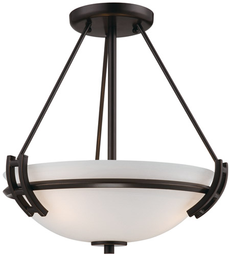 Artcraft AC4333OB Andover 2 Light 13 inch Oil Rubbed Bronze Semi Flush Mount Ceiling Light photo