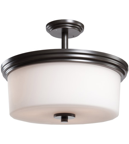 Artcraft AC4393OB Russell Hill 3 Light 15 inch Oil Rubbed Bronze Flush Mount Ceiling Light photo
