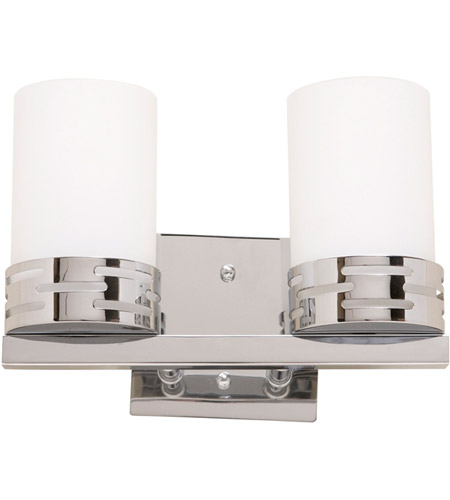 Artcraft AC6012 Seattle 2 Light 11 inch Chrome Wall Bracket Wall Light photo