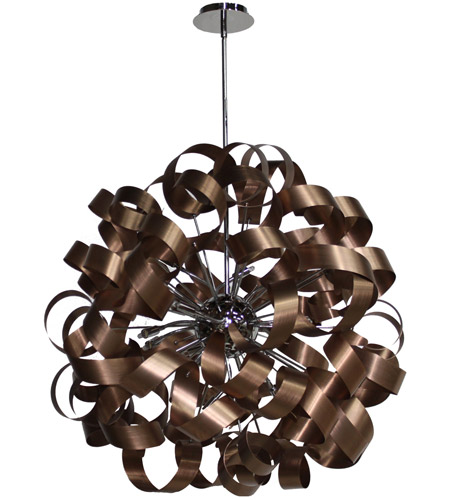 Artcraft ac602co bel air 12 light 34 inch copper chandelier ceiling artcraft ac602co bel air 12 light 34 inch copper chandelier ceiling light in brushed copper aloadofball Image collections