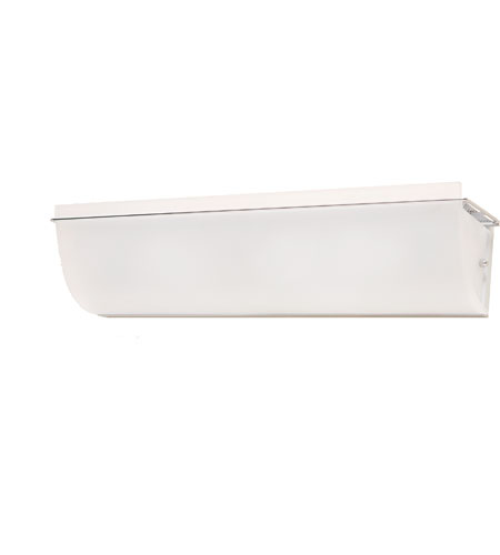 Artcraft Lighting Crescent Street 4 Light Bathroom Vanity with Acid Wash White Glass AC614 photo