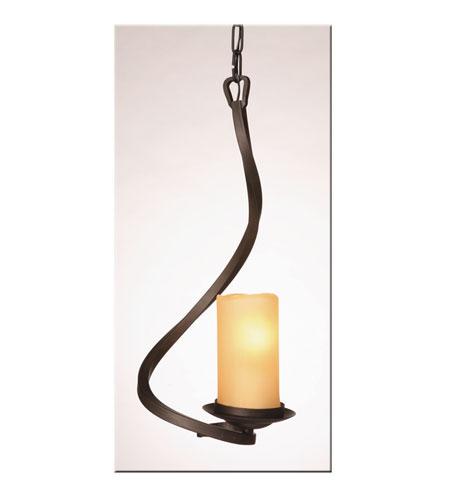 Artcraft Lighting Candlelight 1 Light Single Pendant in Oil Rubbed Bronze AC6508AM photo