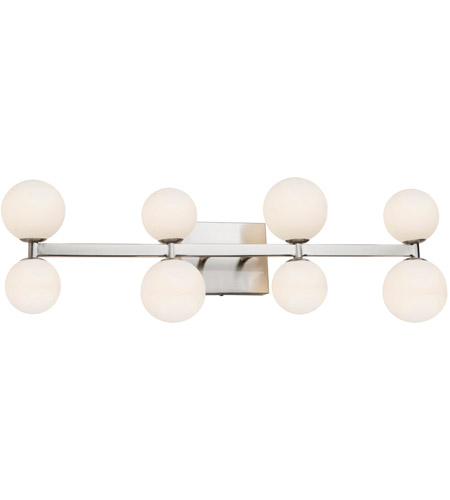 Artcraft AC6618 Hadleigh 8 Light 5 inch Brushed Nickel Wall Sconce Wall Light photo thumbnail