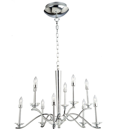 Artcraft Lighting Nassau 10 Light Chandelier in Chrome AC7020 photo
