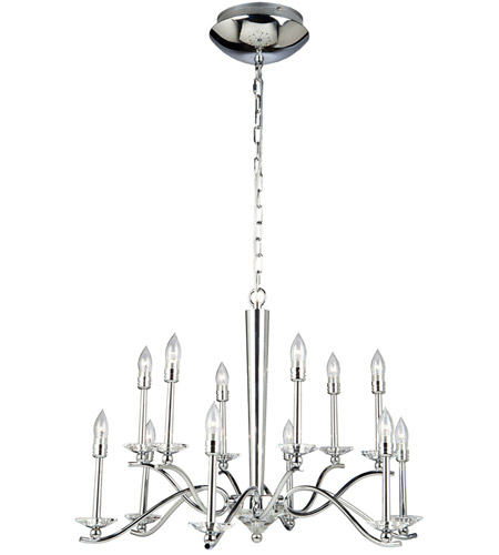 Artcraft Lighting Nassau 12 Light Chandelier in Chrome AC7022 photo