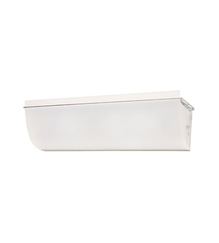 Artcraft Lighting Crescent Street 3 Light Bathroom Vanity with Acid Wash White Glass AC713 photo